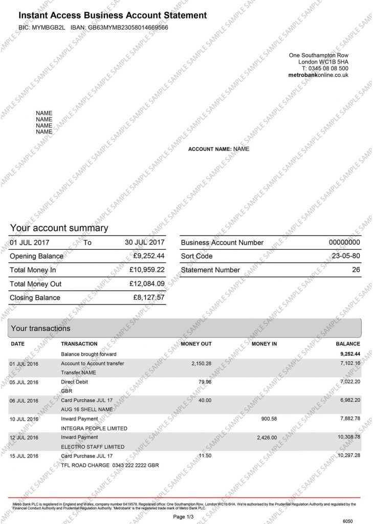 sample documents uk